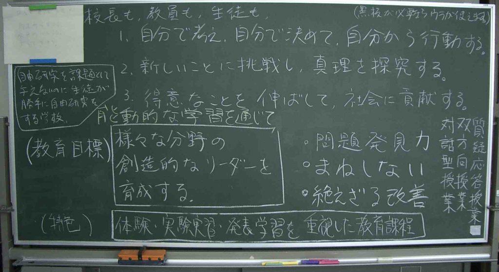 校長室黒板